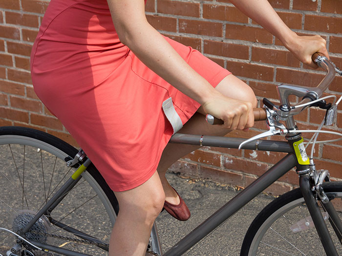 The KATCH skirt clip for summer-breeze bicycle babes!